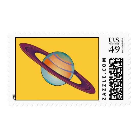 Saturn Postage Stamps