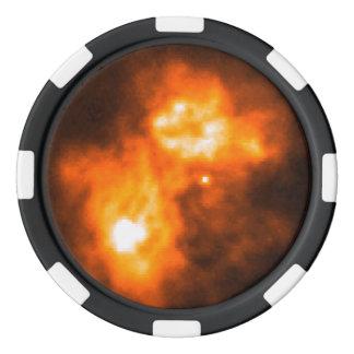 Saturn Prior to Cassini Probe's Arrival Poker Chips Set