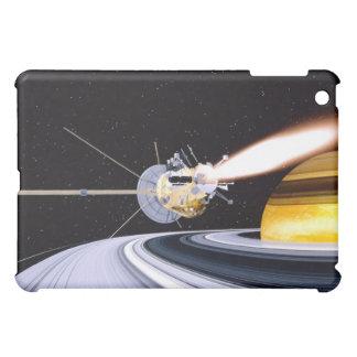 Saturn que está en órbita por satélite