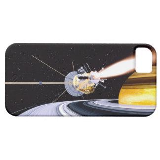 Saturn que está en órbita por satélite funda para iPhone 5 barely there