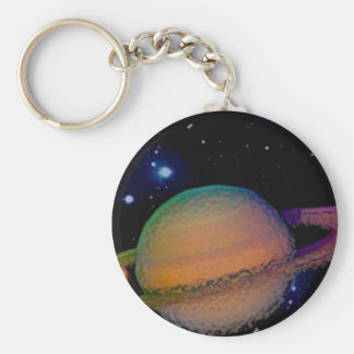Saturn que flota en el universo - llavero