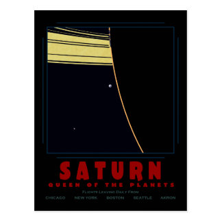SATURN, Queen of the Planets Post Card