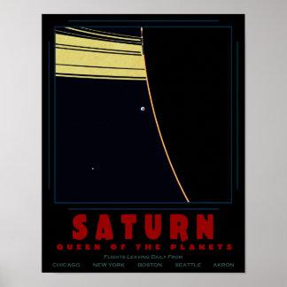 SATURN, reina del poster de los planetas