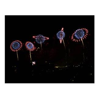 Saturn Ring Fireworks II Postcard