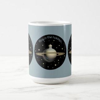Saturn - Ring in the holidays Coffee Mug