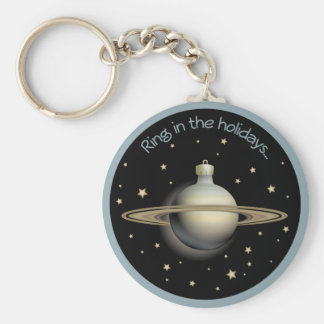 Saturn - Ring in the holidays Keychain