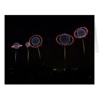 Saturn Rings Fireworks I BIG card