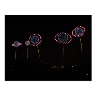 Saturn Rings Fireworks I Post Card