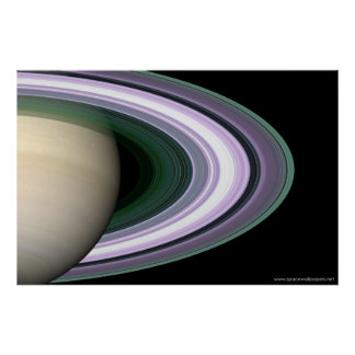 Saturn Rings Poster