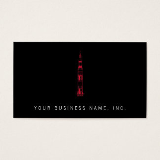 Saturn Rocket Business Card