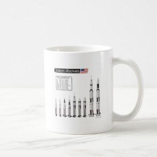 Saturn Rockets Illustration Classic White Coffee Mug