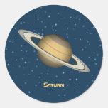 Saturn Round Stickers