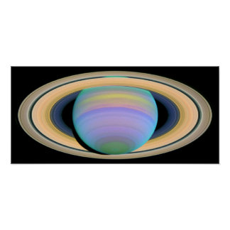 Saturn s Rings in Ultraviolet Light Print