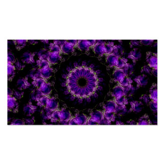 Saturn s Rings Purple Kaleidoscope Mandala Business Card Template