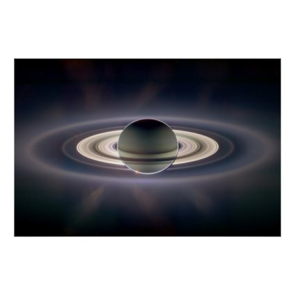 Saturn Solar Eclipse Posters