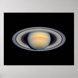 Saturn (telescopio de Hubble) Poster