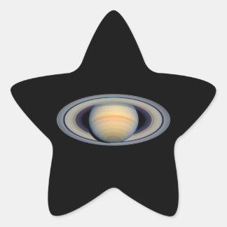 Saturn (telescopio de Hubble) Pegatina En Forma De Estrella