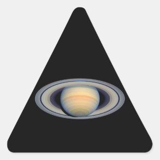 Saturn (telescopio de Hubble) Pegatina Triangular