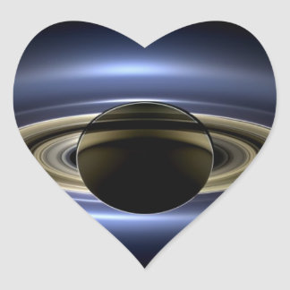 Saturn - The Day the Earth Smiled Heart Sticker