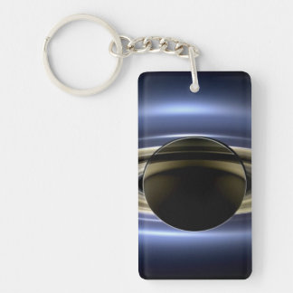 Saturn - The Day the Earth Smiled Rectangular Acrylic Keychain