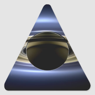 Saturn - The Day the Earth Smiled Triangle Sticker
