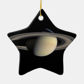 Saturn the planet with rings around christmas tree ornaments