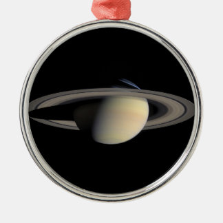 Saturn the planet with rings around christmas ornaments