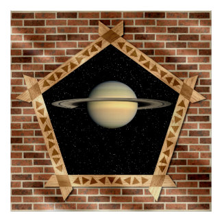 Saturn through the Window - Poster