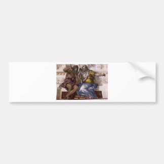 Saturn (Time) and Historia by Paolo Veronese Bumper Sticker