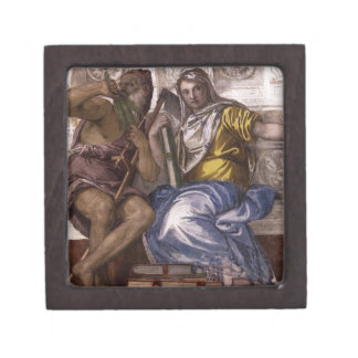 Saturn (Time) and Historia by Paolo Veronese Jewelry Box