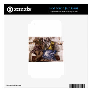 Saturn (Time) and Historia by Paolo Veronese iPod Touch 4G Skins