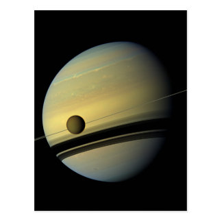 Saturn & Titan Cassini Space Photo Postcards