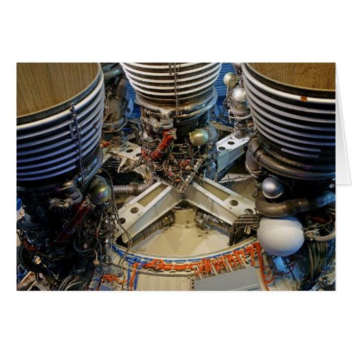 Saturn V Engine Greeting Cards