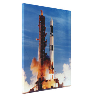 Saturn V Launches The Skylab Space Station Canvas Print
