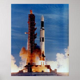 Saturn V Launching The Skylab Space Station Print
