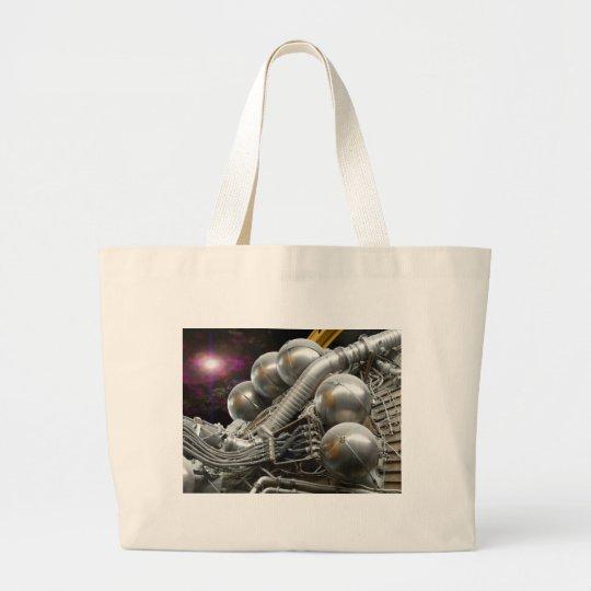 Saturn V Rocket Engine Large Tote Bag