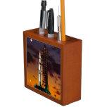 Saturn V Rocket Launch At Night Desk Organizer Desk Organizers