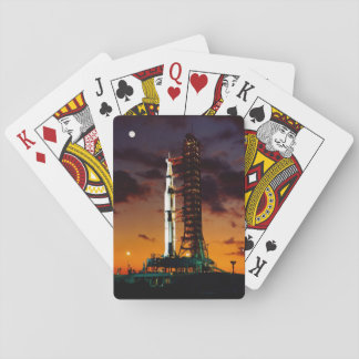 Saturn V Rocket Launch Classic Playing Cards