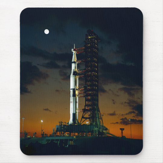 Saturn V rocket on the launch pad Mouse Pad