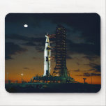 Saturn V rocket on the launch pad Mousepad