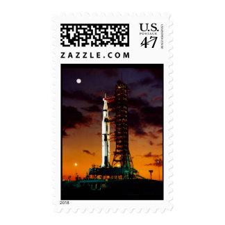 Saturn V Rocket Postage Stamp