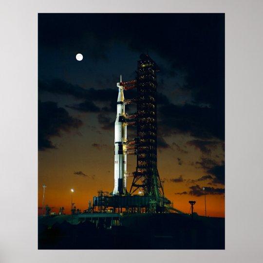 Saturn V Rocket Poster