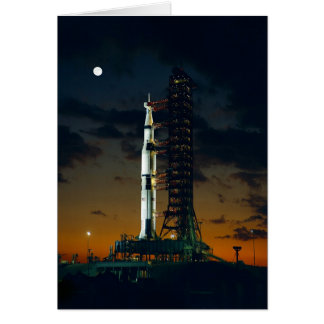 Saturn V Space Rocket Launch Card