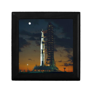 Saturn V Space Rocket Launch Jewelry Box