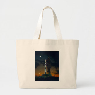 Saturn V Space Rocket Launch Large Tote Bag