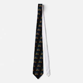 Saturn V Space Rocket Launch Neck Tie