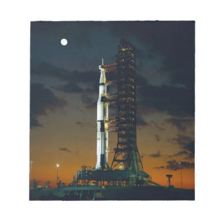 Saturn V Space Rocket Launch Notepad