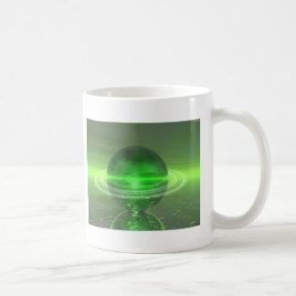 Saturn verde electrónico taza