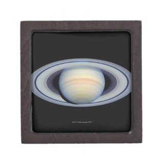 Saturn with rings at widest angle to Earth Jewelry Box