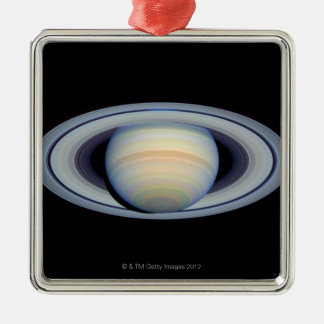 Saturn with rings at widest angle to Earth Metal Ornament